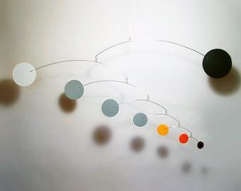 """Hanging Art Mobile Baby Mobile Art sculpture Modern Nursery Calder Style Decor Doppler M 39""""w x 18""""h"""
