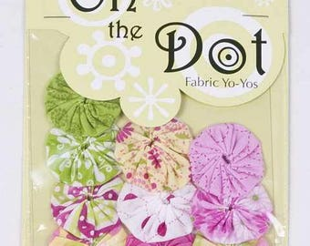 On the Dot Fabric Yo-Yo's | Flutterby | 10 Pc