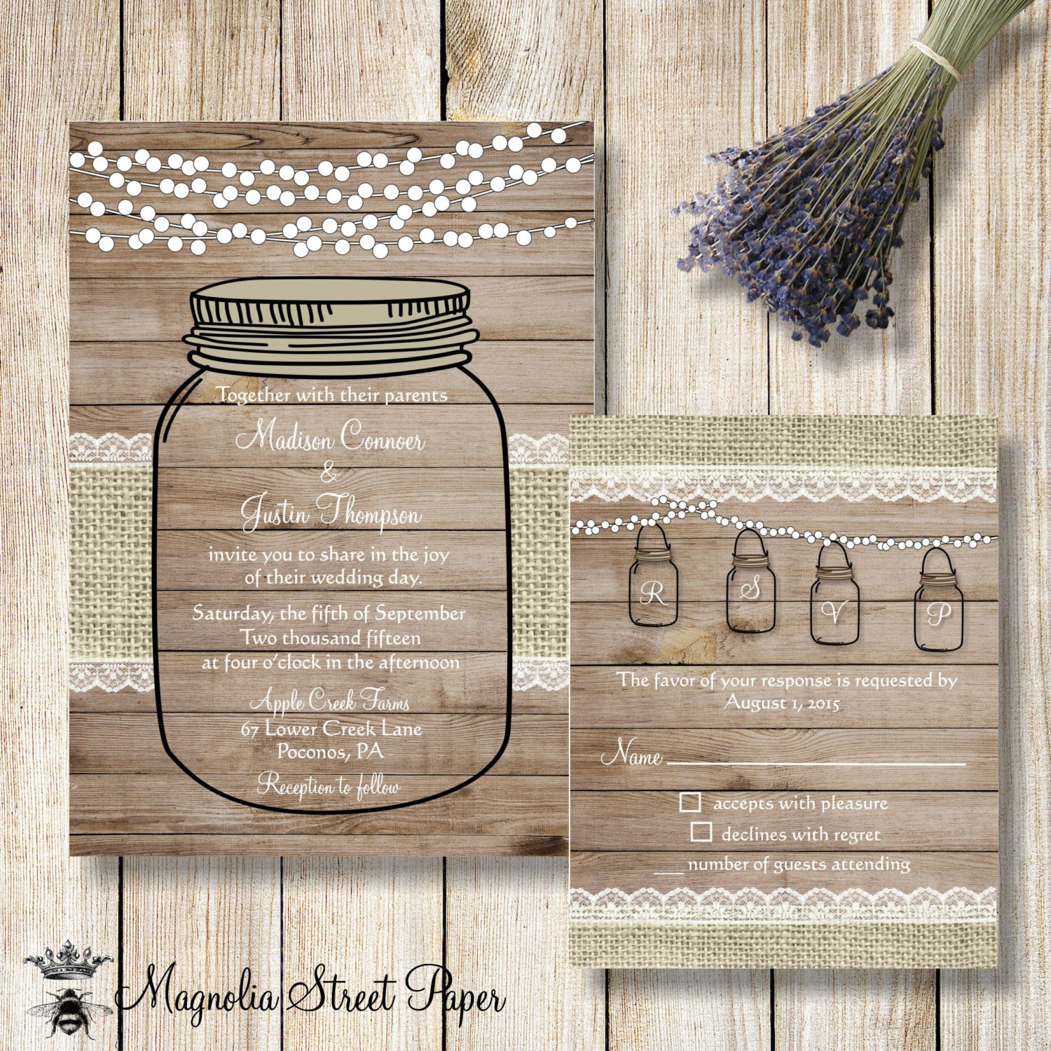 rustic mason jar wedding invitations Josemulinohouseco