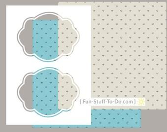 Label Four - Large - Digital Transparent Overlay Template