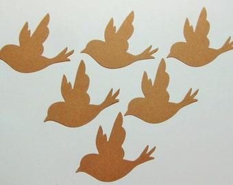 Bird Swallow Die Cuts - Kraft Cardstock - Cardmaking -  Birthday Parties - Baby Showers - Scrapbook - Wedding - Gender Reveal