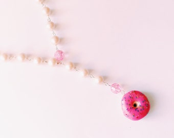 Donut Rosary Miniature Food Jewelry Polymer Clay