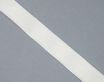 20 mm X 1 Bull white velvet Ribbon meter