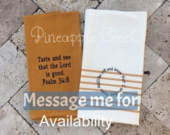 Bible verse kitchen towel