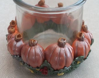 Pumpkin Candle/Candy Holder