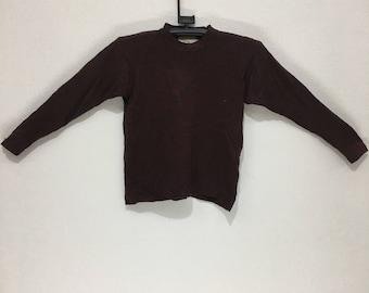 Vintage UNITED COLORS OF benetton crewneck sweatshirt brown sweater size 46