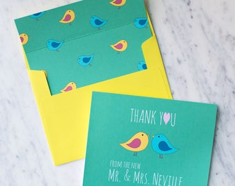 FREE SHIPPING Thank You From the New Mr and Mrs Stationery   Thank You Bridal Shower Gift   Wedding Thank You Cards from The Newlyweds Card
