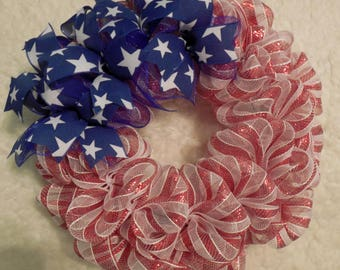Fourth Of July Wreath, Flag Wreath, 4th of July Wreath, Patriotic Wreath, 4'th of July Wreath, 4th of July, Fourth of July Wreath