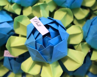 SAMPLE Lotus Blossom - Paper Lotus - Origami Lotus Flower