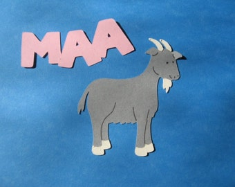 goat diecut and saying