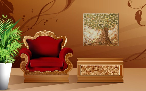 Feng Shui Art Money Tree Art Mosaic Wall Art Good Luck Gift