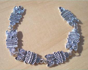 Bracelet Kit, Owl Bracelet, Jewelry Making Kit, Jewelry Findings