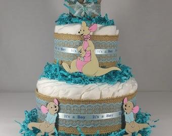 Baby Boy Cangaroo Cake