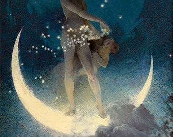 Spring scattering stars Pagan & Goddess fine art giclee reproduction
