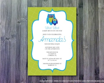 Woot Woot Baby Shower Invitation (BAS16)