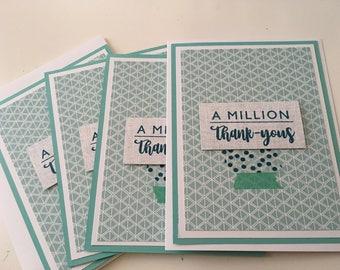 A Million Thank Yous Set of four
