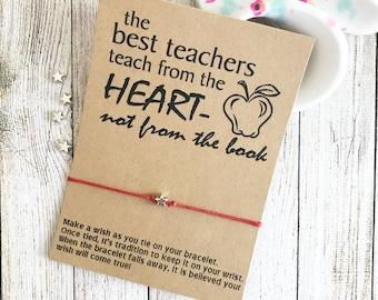 Teacher Appreciation Gift, Teacher Gift, Back To School, Back To School Gift, First Day Of School, Wish Bracelet Favors, Wish Bracelet