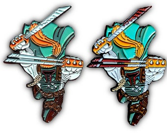 BobaStar w/Bloody Variant Enamel Pins | Shatterstar Deadpool Han Solo Chewbacca Star Wars Boba Fett Soft Enamel X-Force Enamel Pin Pack