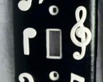 Music Notes Single Switch Plate