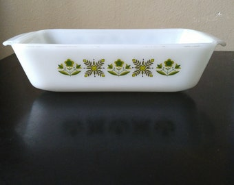 Anchor Hocking 441 Green Meadow Loaf Pan