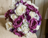 Purple, white and ivory s...