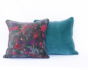 Set of 2 cushion covers 20 x 20 inches, select any two, velvet cushions, throw cushion, throw pillow cover, cotton cushion, home decor