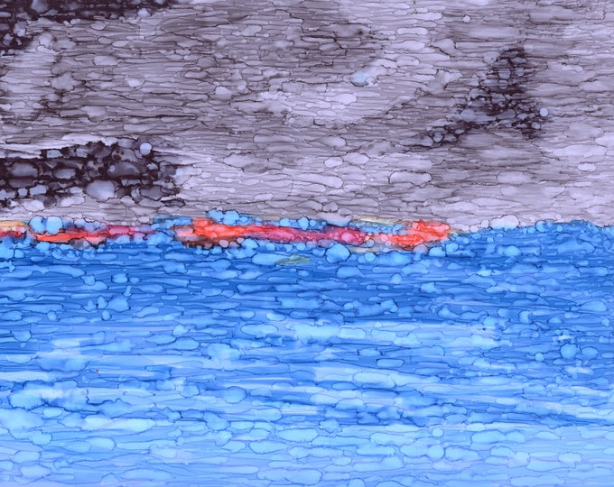 Cloudy Sea Print