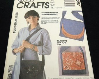 McCall's Crafts Purse Handbag Pattern 3567  Learn To Sew For Fun