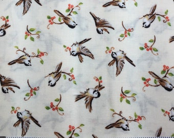 Forest Frolics Birds & Twigs 1930's Repros Quilt Fabric Red Rooster by Heidi Boyd