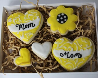 Mother's Day cookies, Mother's Day gift, Mother's Day gift for grandma, Mother's Day gift from daughter, Mother's Day gift ideas, mom gifts