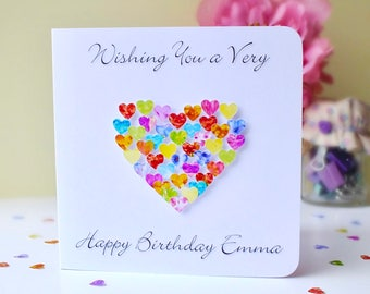 Custom birthday card etsy custom birthday card colourful birthday card with name or relation of your choice brother bookmarktalkfo Images