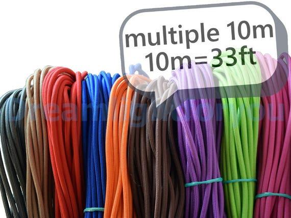 Textile Kabel 10-100meters 33-330ft Stoff bedeckt Draht Tuch