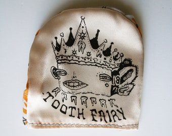 Screen print Tooth Fairy Coin Pouch