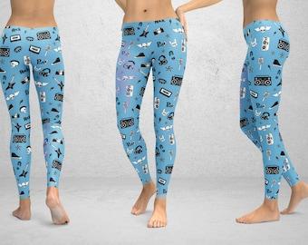 Leggings with Punk Rock Pajama Design