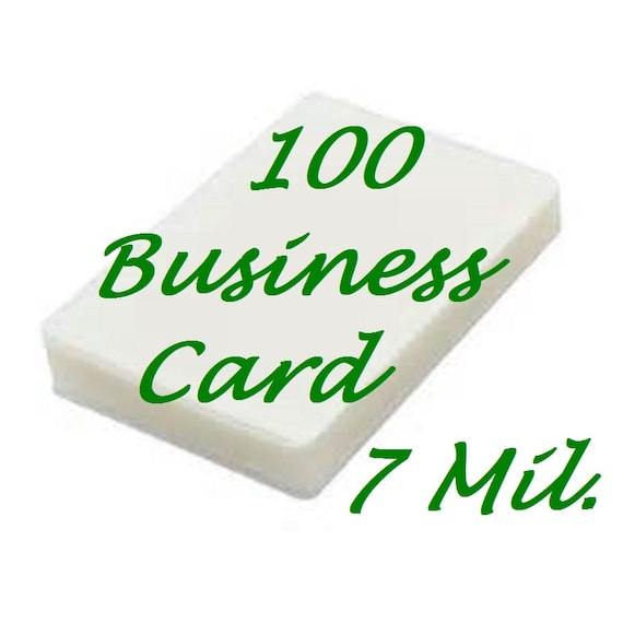 100 business card size thermal laminating laminator pouches reheart Choice Image