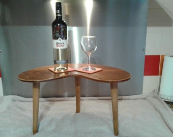 wooden heart shaped vintage coffee table