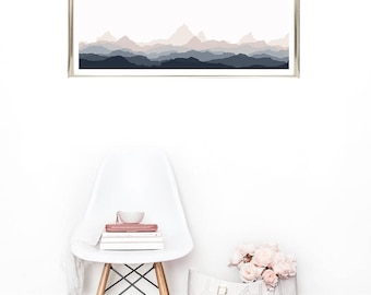 Mountain Range Wall art / Printable / You Print / Home Decor / Minimalist Art / Custom Art / Remodel / Decorate / Minimalism / Dorm Decor