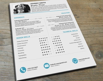Beautiful Modern Resume Template - Stand out from the crowd!