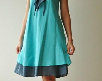 Twist....Blue Cotton dress