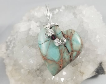 Sea Sediment Jasper Heart