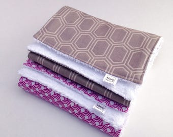 Burp Cloth Set - Burp Rags - Girl Burp Cloths - Burpcloth Set - Baby Burp Cloth Set - Girl Baby Shower Gift - Baby Must Have - New Baby Gift