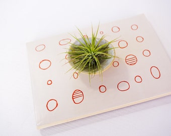 SPEAK EASY  Ceramic Wall Art and Trivet Hanging simple modern design with circles by artist Tina Schowalter Alma Artisan abstract minimalist