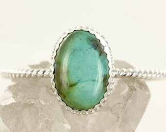 Turquoise cuff - Sterling silver cuff- Bracelet - Handmade