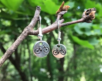 Bicycle Earrings / Bicycle Jewelry / Tiny Bike Earrings