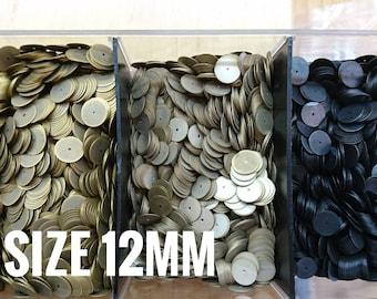 200 pcs, 12mm brass sequin, thin metal disc