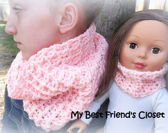 Matching Cowl Infinity Scarf Set - 18 inch Doll Clothes
