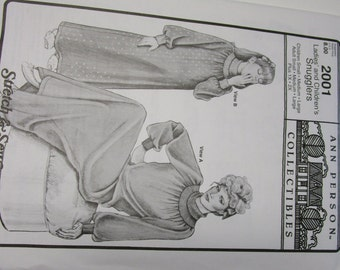 Ladies' & Children's Snugglers pattern, Ann Person Collectibles, UNCUT
