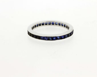 14K Eternity Band Channel set Sapphires