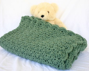 Loving hands crochet and things by lovinghandscrochet on etsy crochet afghan green lap blanket couch throw thyme sage shell pattern thick home decor sage bedding dt1010fo