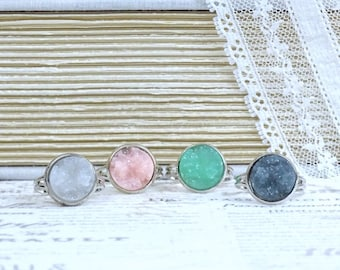 Faux Druzy Ring Clearance Faux Druzy Jewelry Clearance Jewelry Adjustable Ring Clearance Sale